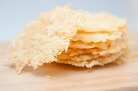 Parmesan crisp stack