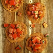parmesan crisps with salsa